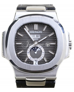 Patek Philippe 5726A-001 Nautilus Annual Calendar 40.5mm Black Moonphase Steel