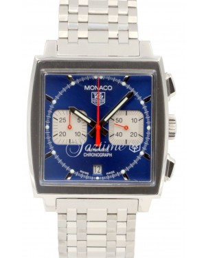 TAG Heuer Monaco Chronograph 'Steve McQueen' CW2113 Blue Stainless Steel