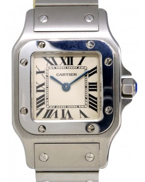 Cartier W20056D6 Santos De Cartier Galbee Stainless Steel Quartz 24mm BOX PAPERS