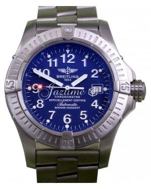 Breitling Avenger Seawolf E17370 Titanium 44mm Blue Arabic Date