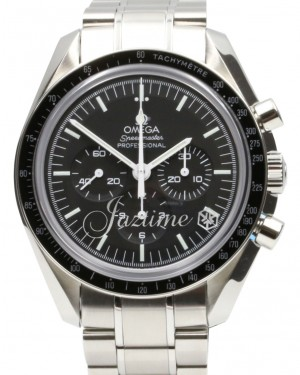 Omega 311.30.42.30.01.006 Speedmaster Moonwatch Professional 42mm Black Index Stainless Steel BRAND NEW