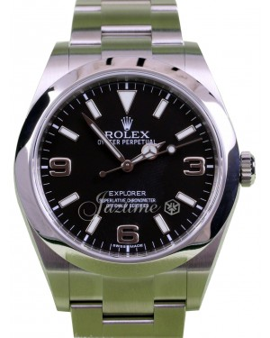 Rolex Explorer I 214270 Stainless Steel SS Black