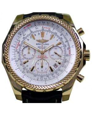 Breitling Bentley Motors K25362 Men's 48mm XL 18k Yellow Gold