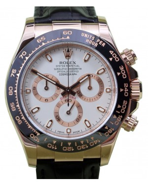 Rolex Daytona 116515LN Ivory White 40mm Chronograph Rose Gold Ceramic BRAND NEW