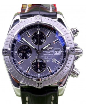 Breitling Chronomat Evolution A13356 Chronograph Stainless Steel Index BOX/PAPERS