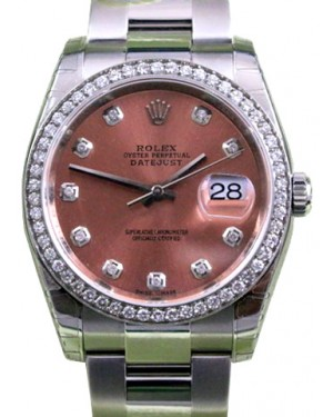 Rolex Datejust 116200 Diamond Pink Oyster 36mm BRAND NEW