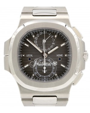 Patek Philippe Nautilus Travel Time Chronograph Stainless Steel 40.5mm Black Dial Bracelet 5990/1A-001 - BRAND NEW