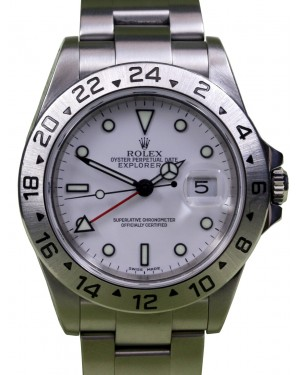 Rolex Explorer II 16570 Men's 40mm Stainless Steel Oyster GMT Date - PRE-OWNED