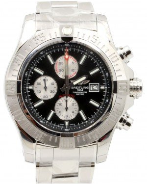 Breitling A1337111|BC29|168A Super Avenger II 48mm Black Index Stainless Steel BRAND NEW