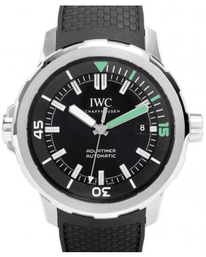 IWC Schaffhausen IW329001 Aquatimer Automatic Black Index Stainless Steel Black Rubber 42mm Automatic