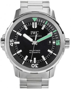 IWC Schaffhausen IW329002 Aquatimer Automatic Black Index Stainless Steel 42mm Automatic