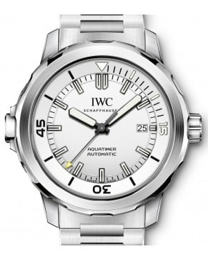 IWC Schaffhausen IW329004 Aquatimer Automatic Silver Plated Index Stainless Steel 42mm Automatic