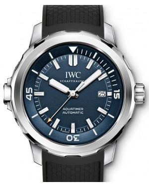IWC Schaffhausen IW329005 Aquatimer Automatic Edition Expedition Jacques-Yves Cousteau Blue Index Stainless Steel Black Rubber 42mm Automatic