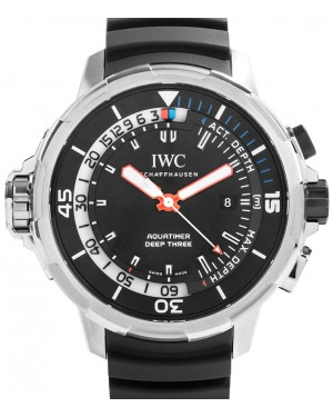 IWC Schaffhausen IW355701 Aquatimer Deep Three Black Index Titanium Black Rubber 46mm Automatic