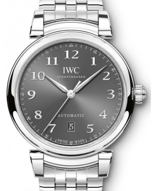 IWC Schaffhausen Da Vinci Automatic IW356602 Slate Arabic Stainless Steel 40mm BRAND NEW