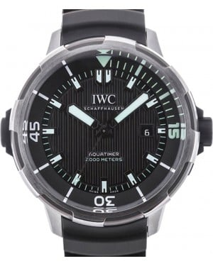 IWC Schaffhausen IW358002 Aquatimer Automatic 2000 Black Green Index Titanium Black Rubber 46mm Automatic