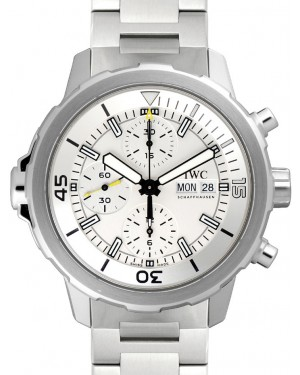 IWC Schaffhausen IW376802 Aquatimer Chronograph Silver Plated Index Stainless Steel Chronograph 44mm Automatic