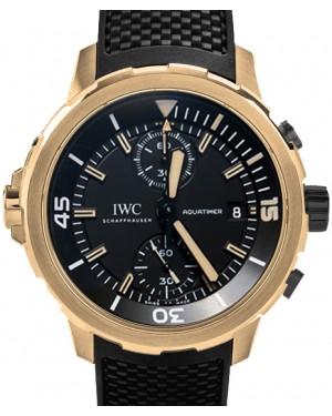 IWC Schaffhausen IW379503 Aquatimer Chronograph Edition Expedition Charles Darwin Black Index Bronze Black Rubber Chronograph 44mm Automatic