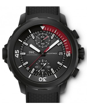 IWC Schaffhausen IW379505 Aquatimer Chronograph Edition La Cumbre Volcano Black Index Black Rubber Coated Stainless Steel Chronograph 44mm Automatic