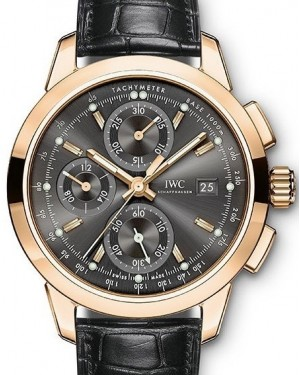 IWC Schaffhausen Ingenieur Chronograph IW380803 Slate Index Red Gold Black Leather 42mm BRAND NEW