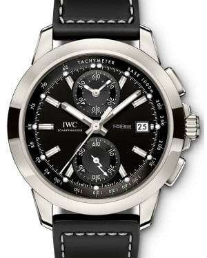 IWC Schaffhausen Ingenieur Chronograph Sport IW380901 Black Index Titanium Black Leather 44mm BRAND NEW