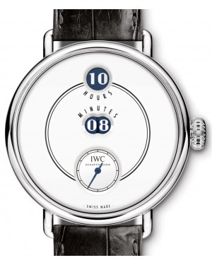 "IWC Tribute To Pallweber Edition ""150 Years"" IW505001 White Platinum Leather 45mm - BRAND NEW"