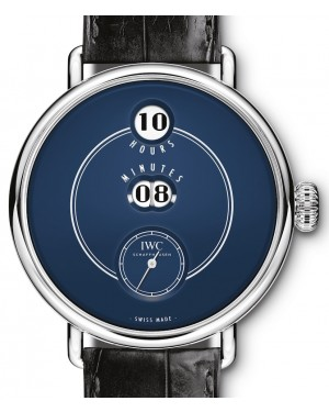 "IWC Tribute To Pallweber Edition ""150 Years"" IW505003 Blue Stainless Steel Leather 45mm - BRAND NEW"