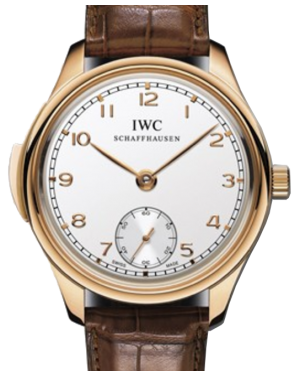 IWC Schaffhausen IW544907 Portugieser Minute Repeater Silver Plated Arabic Red Gold Brown Leather 44mm Manual