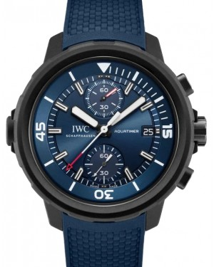 "IWC Aquatimer Chronograph Edition ""Laureus Sport For Good"" Stainless Steel Blue Dial & Rubber Strap IW379507 - BRAND NEW"