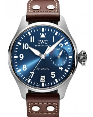 "IWC Big Pilot's Watch Edition ""Le Petit Prince"" Stainless Steel Blue Dial & Steel Bezel Leather Strap IW501002 - BRAND NEW"