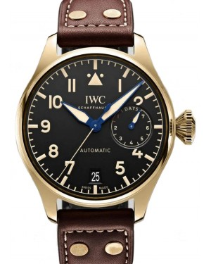 IWC Big Pilot's Watch Heritage Bronze Black Dial & Leather Strap IW501005 - BRAND NEW