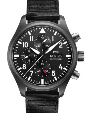 IWC Pilot's Watch Chronograph Top Gun Black Dial Ceramic Bezel & Textile Strap IW389101 - BRAND NEW