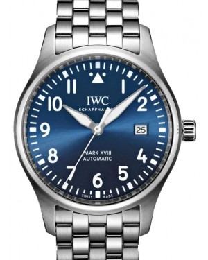 "IWC Pilot's Watch Mark XVIII Edition ""Le Petit Prince"" Blue Dial Stainless Steel Bezel & Bracelet IW327016 - BRAND NEW"
