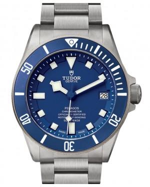 Tudor Pelagos 500M  Blue Dial & Bezel Titanium Bracelet 42mm 25600TB  - BRAND NEW
