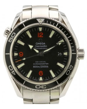 Omega 2201.51.00 Seamaster Planet Ocean 42mm Black Bezel Arabic Index Dial Stainless Steel - PRE-OWNED