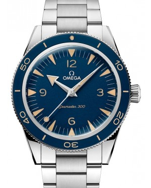 Omega Seamaster 300 Master Co-Axial Master Chronometer 41mm Blue Arabic Index Stainless Steel 234.30.41.21.03.001 - BRAND NEW