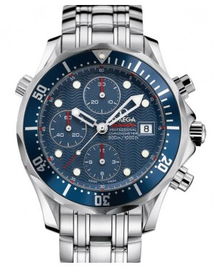 Omega Seamaster Diver 300m Co-Axial Chronograph Stainless Steel Blue 41.5mm Dial Bezel & Bracelet 2225.80.00 - BRAND NEW