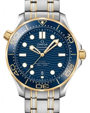 Omega Seamaster Diver 300M Co-Axial Master Chronometer 210.20.42.20.03.001 Blue Yellow Gold Stainless Steel 42mm - BRAND NEW