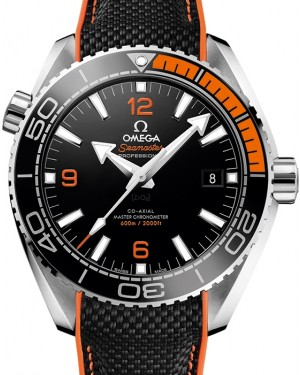 Omega Seamaster Planet Ocean 600M Co-Axial Master 43.5mm Chronometer Black Dial Orange Bezel Rubber Strap 215.32.44.21.01.001 - BRAND NEW