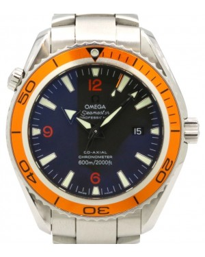 Omega Seamaster Planet Ocean 600M 2208.50.00 Co-Axial 45.5mm Stainless Steel Orange Black - PRE-OWNED