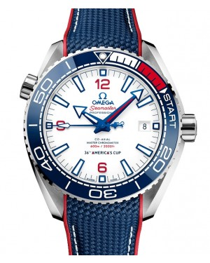 Omega Planet Ocean 600M America's Cup Co-Axial Chronometer Steel 43.5mm Red White Blue 215.32.43.21.04.001 - BRAND NEW