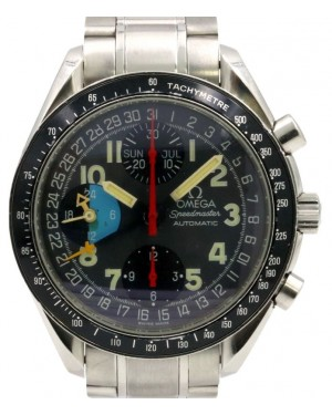 Omega Speedmaster Day-Date Grey Arabic Stainless Steel Tachymetre 3520.53.00 - PRE-OWNED