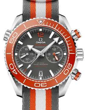 Omega Planet Ocean 600m Co-Axial Master Chronometer Chronograph Grey Dial Orange Ceramic Bezel NATO Strap 215.32.46.51.99.001 - BRAND NEW