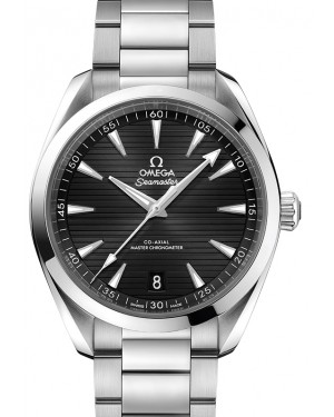 Omega Seamaster Aqua Terra 150M Co‑Axial Master Chronometer Stainless Steel Black Dial & Steel Bracelet 41mm 220.10.41.21.01.001 - BRAND NEW