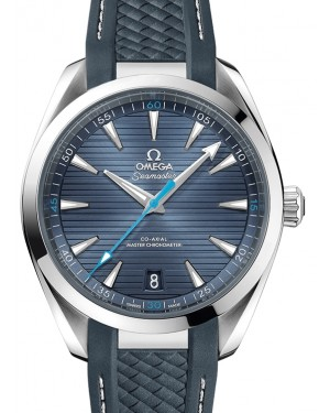 Omega Seamaster Aqua Terra 150M Co‑Axial Master Chronometer Stainless Steel Blue Dial & Rubber Strap 41mm 220.12.41.21.03.002 - BRAND NEW