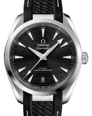 Omega Seamaster Aqua Terra 150M Stainless Steel Black Dial & Rubber Strap 38mm 220.12.38.20.01.001 - BRAND NEW