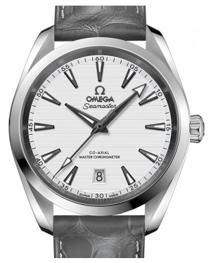 Omega Seamaster Aqua Terra 150M Stainless Steel Silver Dial & Leather Strap 38mm 220.13.38.20.02.001 - BRAND NEW
