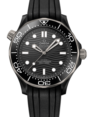 Omega Seamaster Diver 300m Co-Axial Master Chronometer Black Dial & Bezel Rubber Strap 42mm 210.92.44.20.01.001 - BRAND NEW