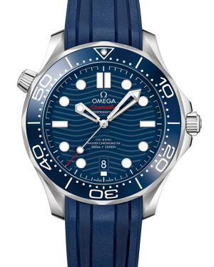 Omega Seamaster Diver 300m Co-Axial Master Chronometer Blue Dial & Bezel Rubber Strap 42mm 210.32.42.20.03.001 - BRAND NEW