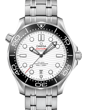 Omega Seamaster Diver 300m Co-Axial Master Chronometer White Dial Black Bezel Stainless Steel Bracelet 42 mm 210.30.42.20.04.001 - BRAND NEW